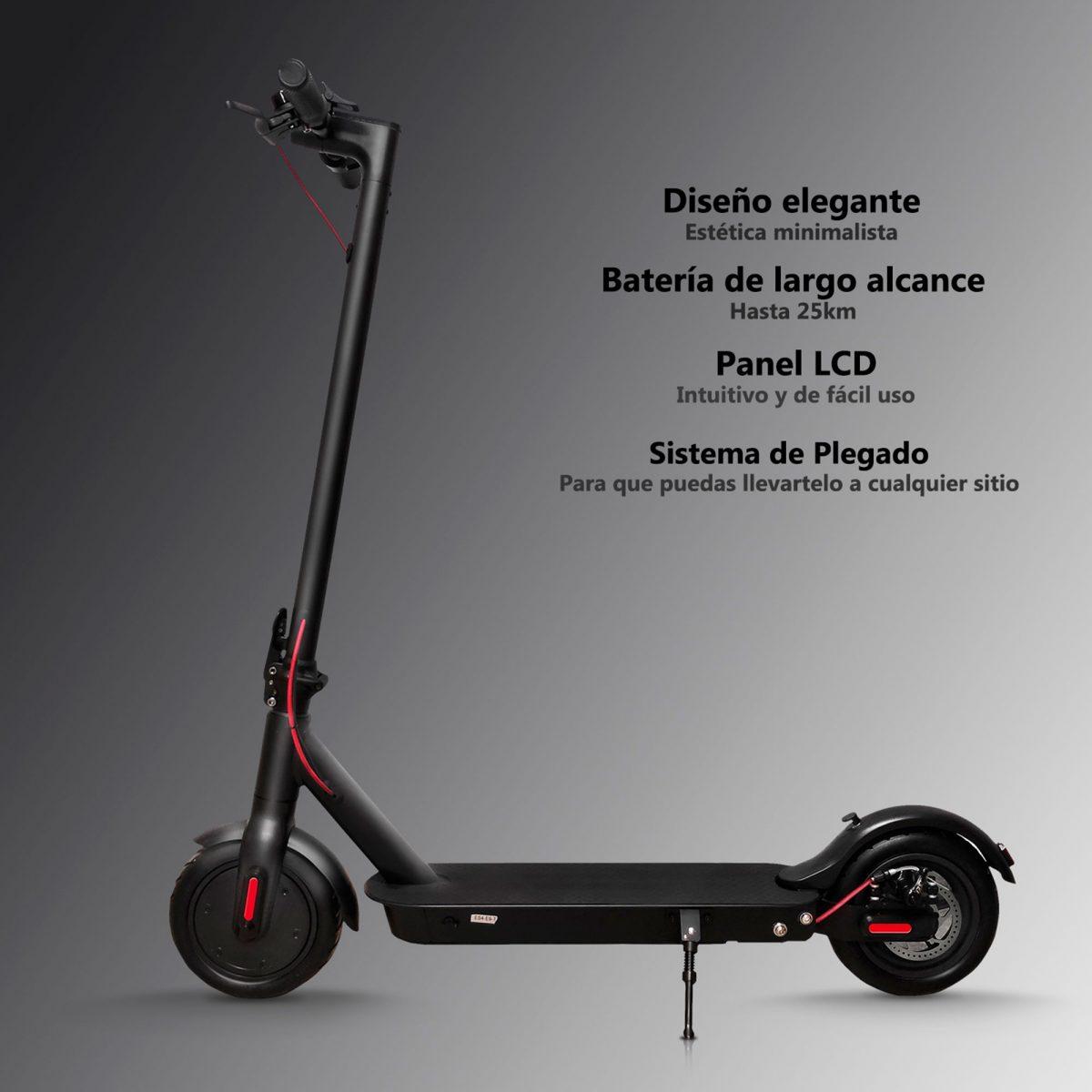 Patinete eléctrico con sistema de plegado, panel LCD y batería de largo alcance - Zwheel