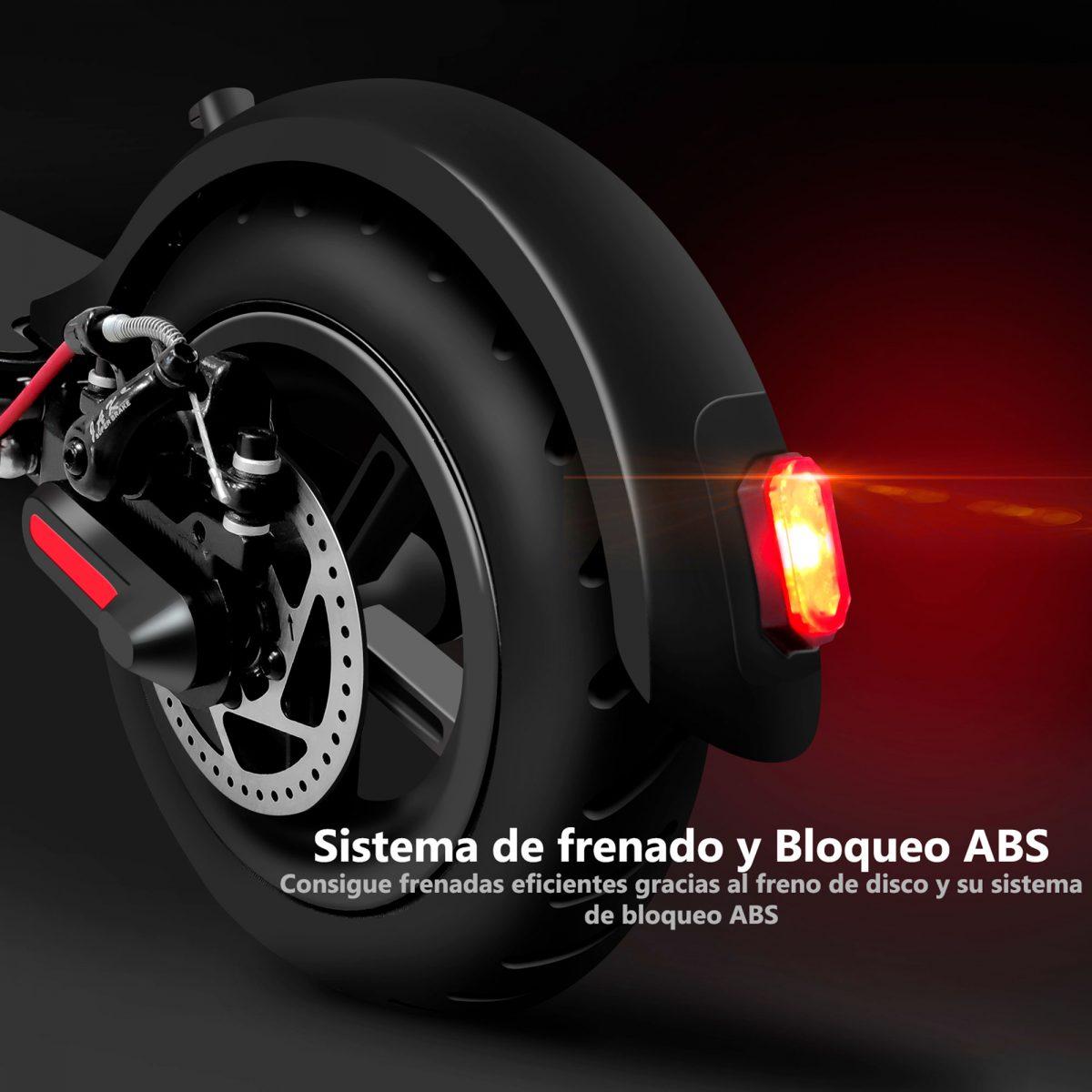 Sistema de frenado y bloqueo ABS para patinetes eléctricos - Zwheel