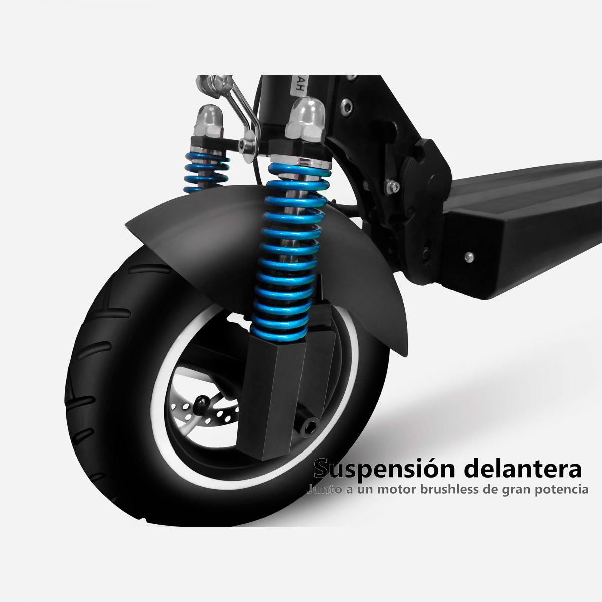 Suspensión delantera de las ruedas del patinete eléctrico Zrino - Zwheel