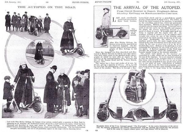Primera aparición autoped 1911