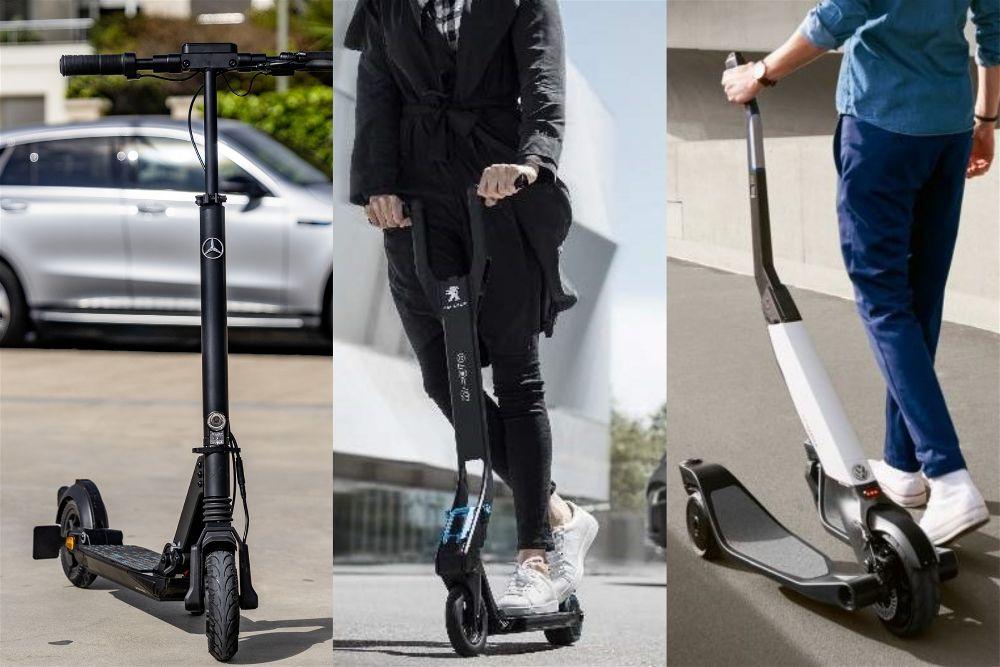 Los patinetes electricos de las marcas de coche